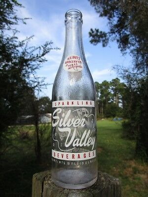 SILVER VALLEY Beverages soda bottle - HEB Grocery Co. - Texas - 1961 - NICE!