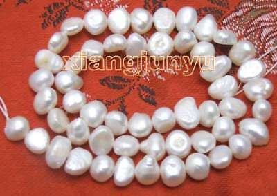 """SALE small 4-5mm Natural White Freshwater BAROQUE Pearl Loose Beads 14""""-los405"""