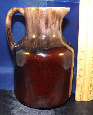 Tuque Rouge Pitcher. Nice Quebec Pottery from St. Emile. 5.5 Inches Great Color