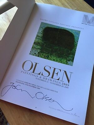 John Olsen Signed Catalogue 2009 Australian Art Painting And Drawing Book