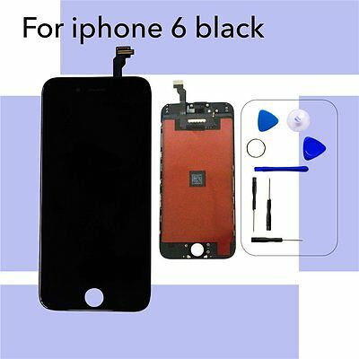 """iPhone 6 4.7"""" Replacement LCD Screen & Digitizer & Tools - Black (High Quality)"""