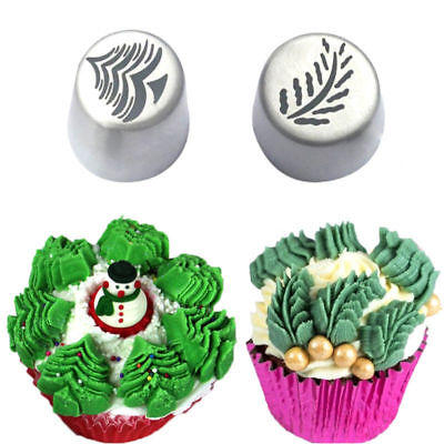 1Pcs Christmas Tree Icing Russian Piping Tip Leaf Nozzle Cupcake Pastry Tools