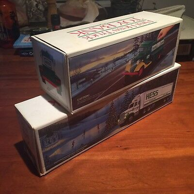 Lot of 2 Vintage Hess Truck Toy Bank in original box- 1985 Chevy, 1987