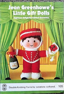 Jean Greenhowe Knitting Pattern Book-Little Gift Dolls-18 Knitted Characters