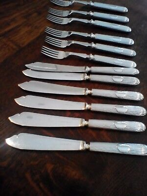 RARE  PANEL REED TITANIC PATTERN -1910 Antique Walker & Hall Cutlery