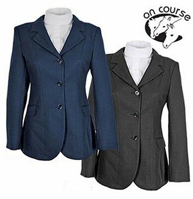 NEW On-Course Ladies Ashby Show Coat - Black 6, 8 - Navy 16