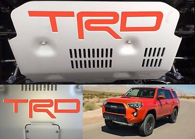 Inferno Orange Vinyl TRD Skid Plate Inserts For 2015-2018 Toyota 4Runner New USA