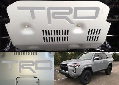 Cement Grey Vinyl TRD Skid Plate Inserts For 2015-2018 Toyota 4Runner New USA