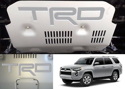 Silver Metallic Vinyl TRD Skid Plate Inserts For 2015-2018 Toyota 4Runner New