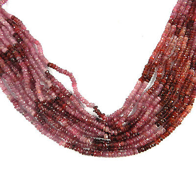 Wholesale Price!! Nice 5line 3mm Pink Sapphire Beads Necklace Jewelry GS00214