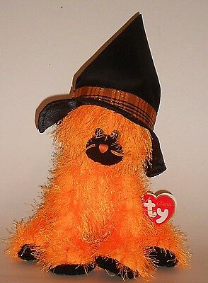 Halloween Beanie Baby Kitty Kitten Witch Alacazam the Orange Cat Ty Classic New