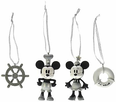 Disney Steamboat Willie Sketchbook Mini Ornament Set Of Four New In Box Nr