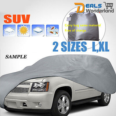 Universal Large Car Cover UV Resistance Anti Scratch Dust Dirt Full ProtectionXL