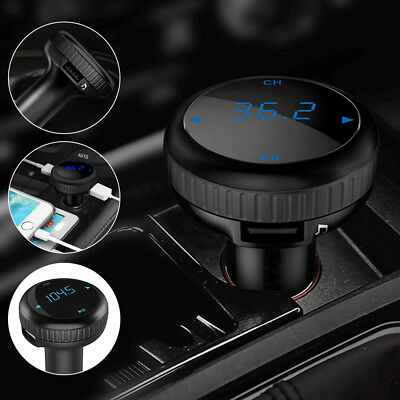 1pc Car Auto Kit SD Slot Remote Wireless Bluetooth FM Transmitter Radio Adapter
