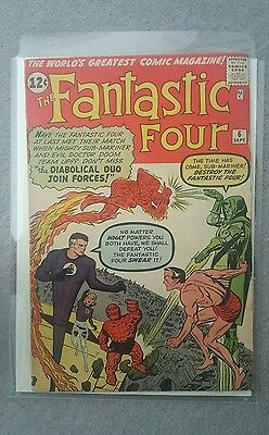 The Fantastic Four #6, Grade 5.0, Sub Mariner & Dr Doom team up.