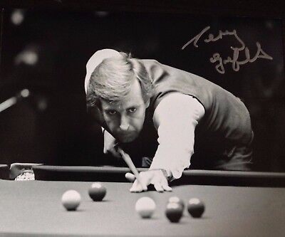 Terry Griffiths - Snooker Champion - Excellent Signed B/w Photograph