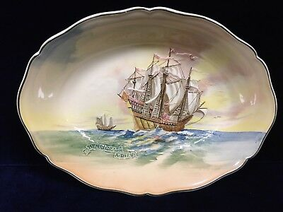 Vintage Royal Doulton Famous Ships Dish The Henri Grace A Dieu Made In England