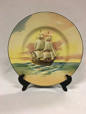 Vintage Royal Doulton Plate Famous Ships Lord Nelson The Victory Made In England