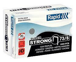 Rapid Super Strong 73/8 Staples R31 8 mm shank length - Pack of 5,000