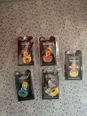 Tokyo Disney Game Prize Pin TDS Halloween 2017 Donald Mickey lot of 5 pins