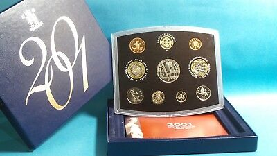 2001 United Kingdom Official Proof Coin Collection Boxed