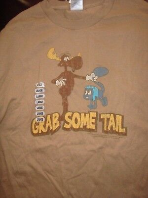 Fantastic Retro Rocky and Bullwinkle T-Shirt, Size Large, New With Tags!