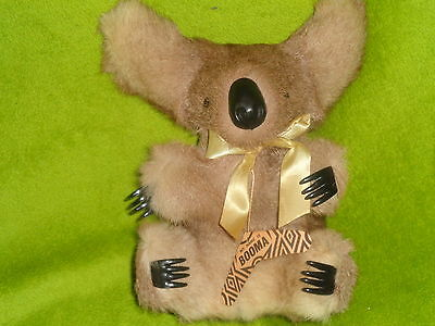 Bnwt 11 Inch Booma Koala Bear Made Of Kangeroo Skin