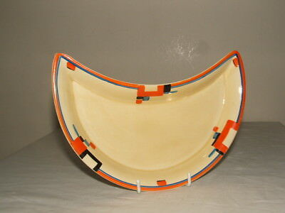 Clarice Cliff Art Deco Abstract Brunella Crecent Dish Truly Stunning