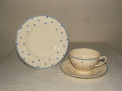 Susie Cooper For John Lewis Blue Polka Dots Trio Truly Stunning