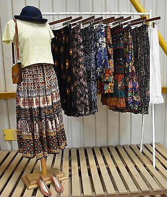 Job Lot 10 X Womens Vintage Gypsy Skirts A Mix Of Styles And Fabrics (87)