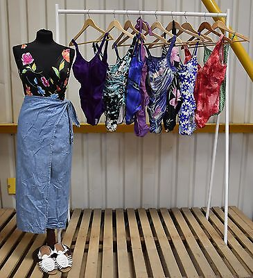 Job Lot X10 Vintage Womens Swimsuits In A Range Of Styles And Colours. (89)