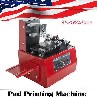 【Usa Local】Electric Pad Printer Printing Machine T-Shirt Oil Ink Ball Pen Diy