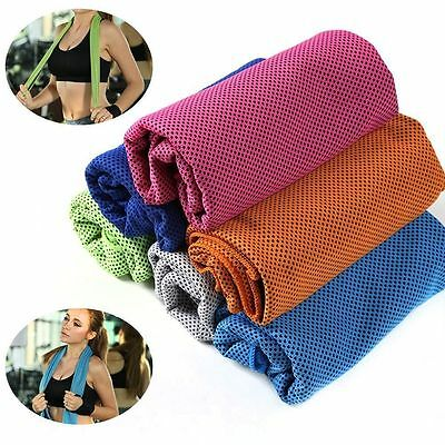 Ice Cold Running Gym Jogging Chilly Pad Instant Cooling Towel Outdoor Sports myu