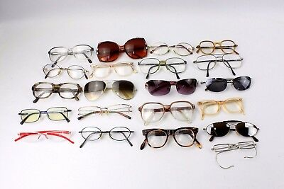 Lot of 20 x Vintage OPTICAL Lot of Glasses & Sunglasses MIXED Styles CASES