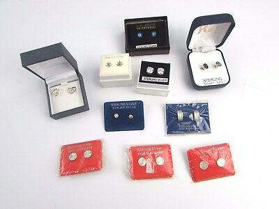 Gorgeous Lot of 10x Vintage .925 Sterling SILVER Earrings Mixed Styles inc Boxed