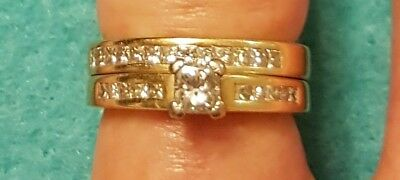 Michael Hill Solid 18ct gold (750) 1ct diamond engagement set (size 6) RRP $2499
