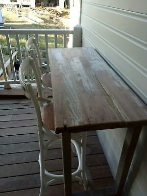 vintage rustic industrial island bench bar table