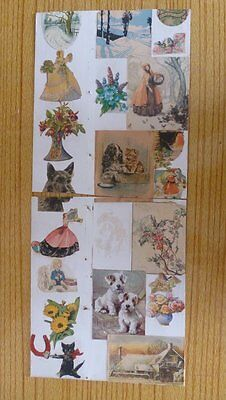 Victorian Cards And Illustrations On Two Boards
