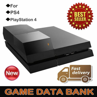 "3.5"" Data Bank External Hard Drive Storage Accessories Black For PS4 Console CA"