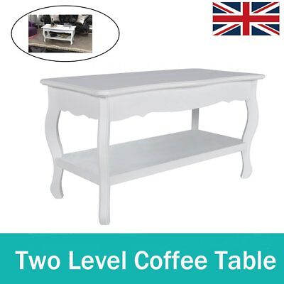Modern Wooden Coffee Table Shabby Chic White Contemporary Living Room Furniture