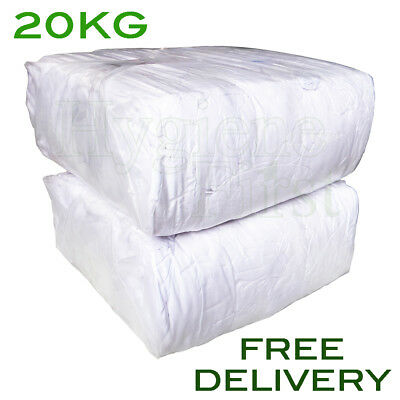 20Kg White Sheet Cotton wipers 100% cotton sheeting Rags wipes