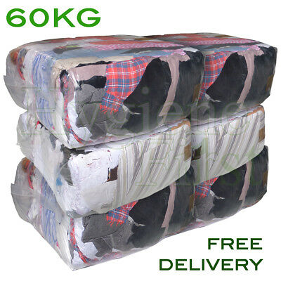 60Kg Mixed Rags Wipers Workshop Engineering Cleaning Wiping Industrial Cloths