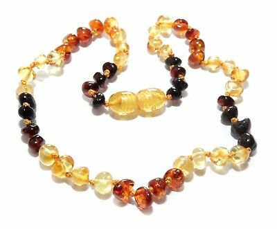 Genuine Polished Baltic Amber Baby Necklace Mixed 30 cm /11.8 in