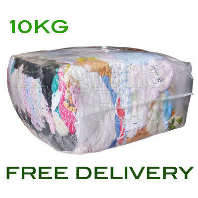 10Kg Towelling Wipers Rags Coloured towel wipes Industrial garage Engineers