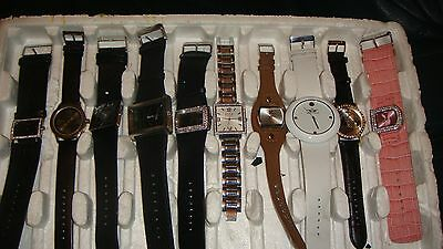 Trade Only Job Lot Of 10 X  Mixed Names  Watches 100% Gen <<,,