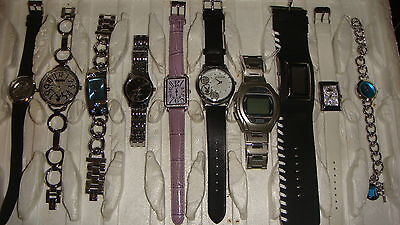 Trade Only Job Lot Of 10 X  Mixed Names  Watches 100% Gen </