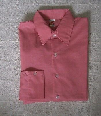 "Vintage Boys  Shirt - Age 16 - to fit 36"" Chest - Pink - Poly/Cotton - New"