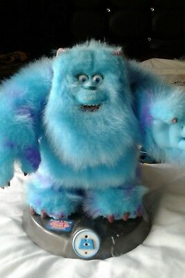 Disney Pixar Monsters Inc Sulley Blue  Interactive Talking Animated Room Guard