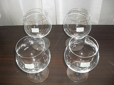 Christopher Stuart TALIA Crystal Brandy Balloons Set of 4 Germany