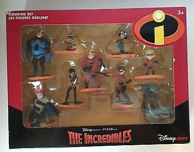 Disney Exclusive THE INCREDIBLES FIGURES SET NEW Playset ACTION FIGURINES